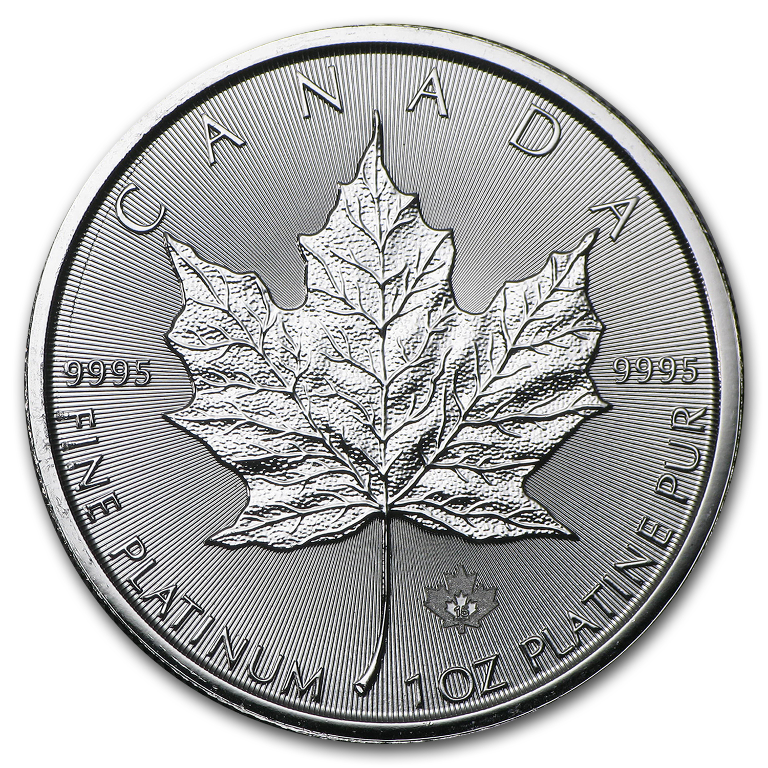 2015 Canada 1 oz Platinum Maple Leaf BU